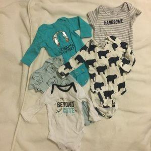 Bundle of 4 Baby Boy 3 month old onesies